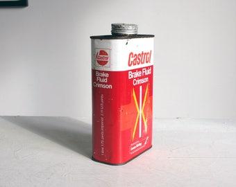 vintage break fluid crimson oil can