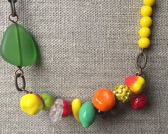 Sassy fruit necklace