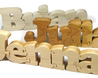 Wooden Name Puzzle, Personalized Name Puzzle, Custom Name Puzzle, Wooden Letter Puzzle, Personalized Gift, Newborn Gift, Nursery Decor