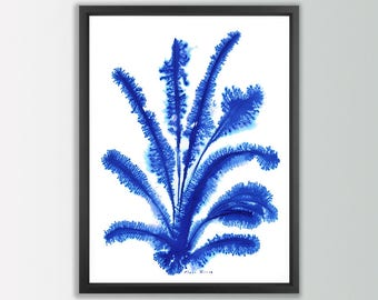 Blue abstract art. Abstract modern art. Modern art. Blue wall art. Abstract blue prints. Modern decor. Abstract art print. Blue art print.