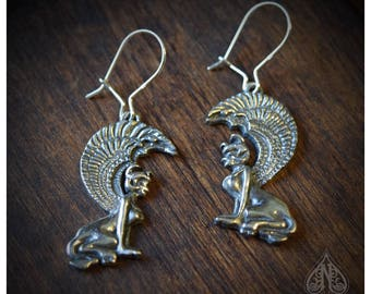 Sterling Silver earrings Neverending Story Southern Oracle Sphinx Gates