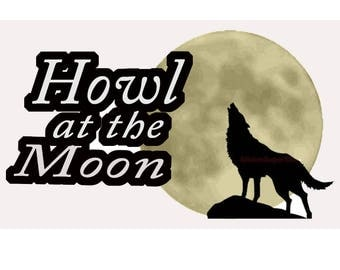 Howl at the Moon Wolf, Great Wolf Lodge Die cut Scrapbook