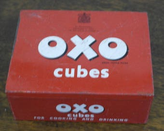 RESERVED vintage large size oxo tin