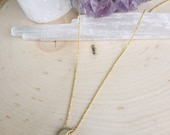 Mini celestial moon gold layering necklace