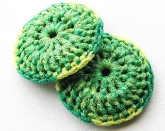 Heavy Duty Pot Scubbers - Set of 2 through 8 - Crochet Dish Scrubbies - Nylon Kitchen Sponge - Tawashi