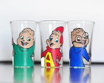 Alvin and the Chipmunks Disney Shot Glasses