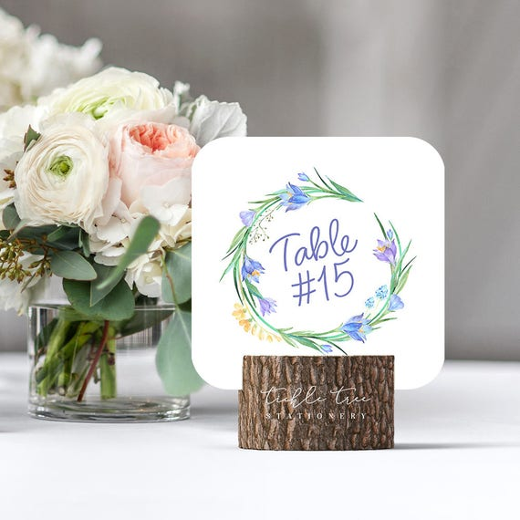 Table Numbers - Blue Spring (Style 13506)