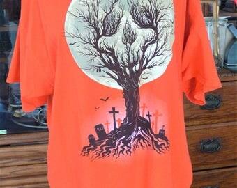 orange Halloween tee shirt