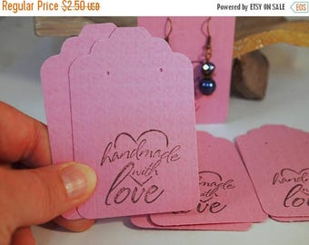 """CIJ Lavender Earring Cards, Card Stock  Earring Cards, Heavy Card Stock Earring Cards 20 Earring Cards, Supplies  3 1/4 x 2 1/8"""", CKDesigns"""