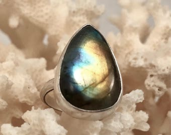 Labradorite and Sterling Ring - Size 4.75