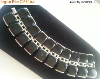 Now On Sale Vintage Chunky Wide Black Lucite Bracelet 1950's 1960's Collectible Retro Rockabilly Vintage Jewelry