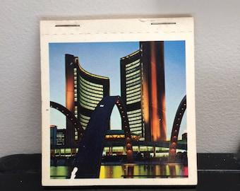 Vintage Souvenir Toronto Ontario Canada Photo Book - Small Vintage Souvenir Photo Cards - Ontario Place - Aeroquay Terminal - Queens Park