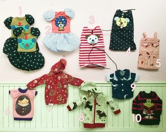 Clearance SALE! 18SGD per piece! Blythe doll outfits!