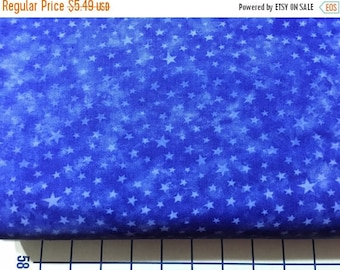 12% off thru July blue stars on Royal  Blue MARBLE STAR tonal cotton print by the 1/2 yard MODA Fabric 3406-33