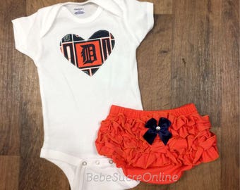 Detroit Tigers Girls Outfit