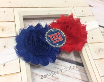 New York Giants Shabby Chic Headband