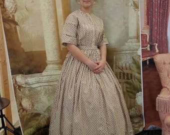 For your Teen: Custom made Civil War Dress YOU supply fabric(s)