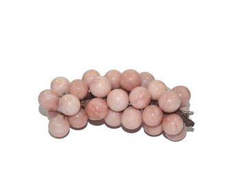 Vintage Blush Alabaster Grapes Blush Grape Cluster Marble Grapes Blush Alabaster Grapes