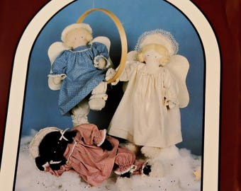 """Dream Spinners Stardust #125 Pattern, Vintage 1986 22"""" Angel Cloth Doll Body and Clothes, Rag Doll Craft Pattern, Uncut itsyourcountry"""