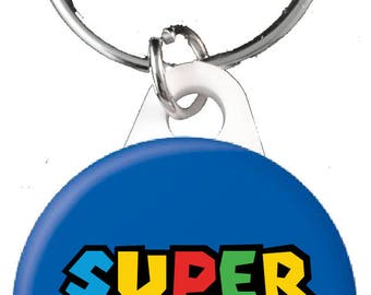 Super Daddio Button Keyring