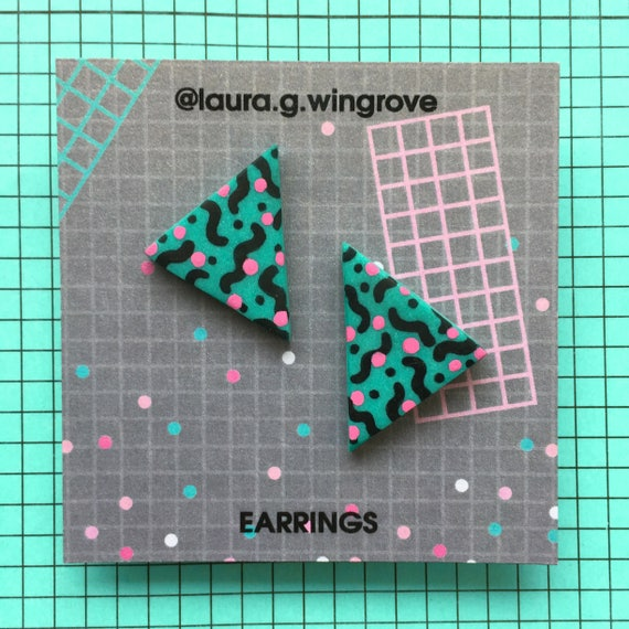 Laura Wingrove 80s Handmade Earrings