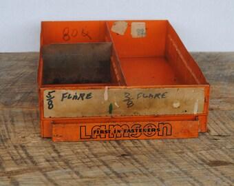 Vintage Lamson Fastener Orange Drawer Box
