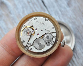 CHAIKA Vintage Soviet Russian wrist watch movement.