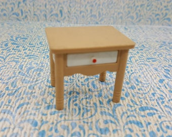 Tomy Smaller House Night Stand Bedroom Rare pieces Fits 3/4 to 1 inch scale hard  Plastic
