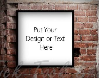 Brick wall image : Styled Stock Photos / Digital Stock Photo / Stock Images / Preserved images / Wedding card