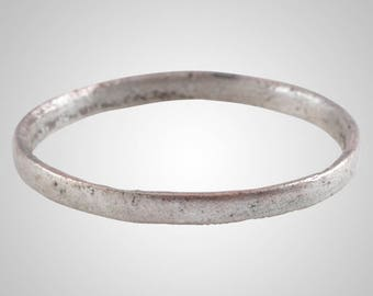 Authentic Ancient Viking  wedding Ring Band  C.866-1067A.D. Size 9 1/2    (19.8mm)(Brr1039)