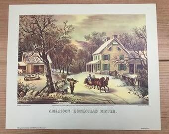 Vintage American Homestead Season Prints
