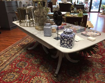 Double Pedestal Dining Table #204