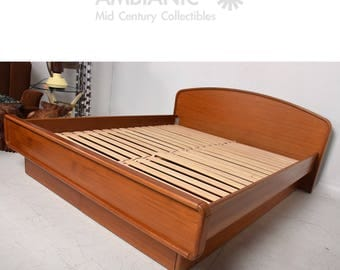 king platform bed etsy - King Bed Frame Platform