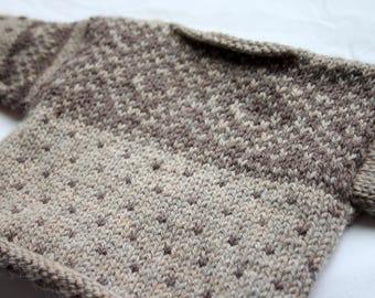 Super Warm Fair Isle Baby Sweater