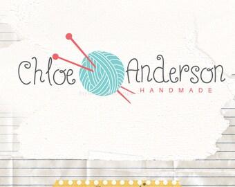 Business Logo design - Knitting logo - Premade logo - Yarn logo