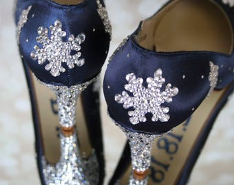 CUSTOM CONSULTATION:  Wedding Shoes, Winter Wedding, Snowflake Wedding, Wedding Shoes Winter, Bling Wedding Shoes, Something Blue, Shoes