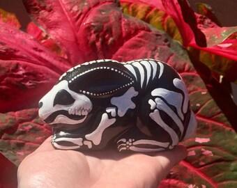 ON HOLD Ceramic Bunny Skeleton