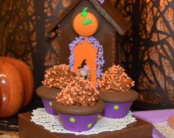 Halloween Double Chocolate Mini Cupcakes Pretend Food Halloween Party Treat Halloween Decoration