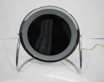 Mirror Magnifying Lighted #030718jo Vintage