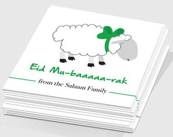 Set of 50 Custom Eid Mu-baaaaa-rak Tags