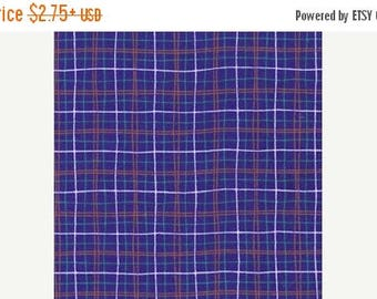 "SUMMER SALE Fat Quarter ONLY (18""x22"") of Blue Plaid From Michael Miller"