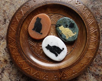 CAT Gemstone Animal Spirit Totem for Spiritual Jewelry or Crafts