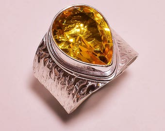 Citrine Gemstone Ring in Sterling size 9.5