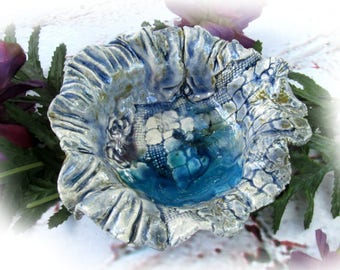 catch all dish - Ceramic jewelry dish ,  Handmade Trinket Dish - small ceramic dish -  unique Trinket Dish , gift under 20,  # 77