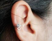Birthstone Ear Cuff Earring No Piercing Needed