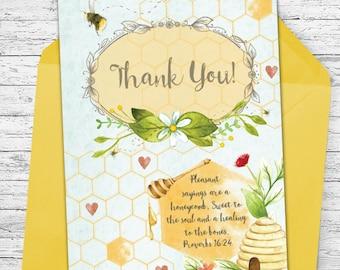 Bee Thankful! - Thank You Greeting Card