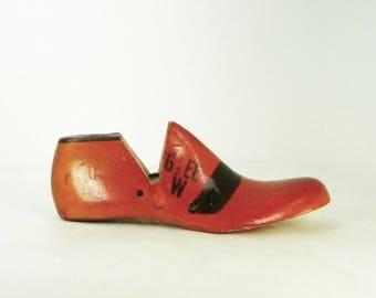 Vintage Wooden Shoe Last, Industrial Shoe Mold, Industrial Decor