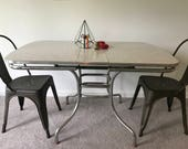 RESERVED FOR JENNY F -Buyer Sets Up Shipping -Vintage Mid Century 1950's Kitchen Table With Leaf Local Pickup Only