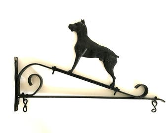 Vintage Hanging Sign Bracket / Ornamental Wrought Iron / Shop Sign Bracket / Pub Sign Hanger / Architectural Salvage