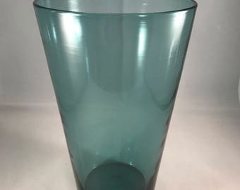 Blenko 366M vase in 1961 charcoal - etched signature